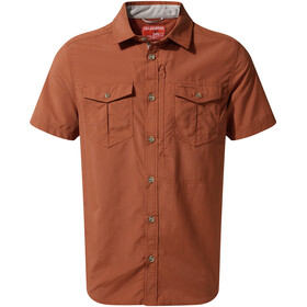 Craghoppers NosiLife Adventure II Short Sleeved Shirt Men Burnt Whisky